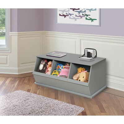 Go-To Storage Cubby Bins: 3, Color: Gray