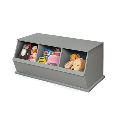Go-To Storage Cubby Color: Gray, Bins: 3
