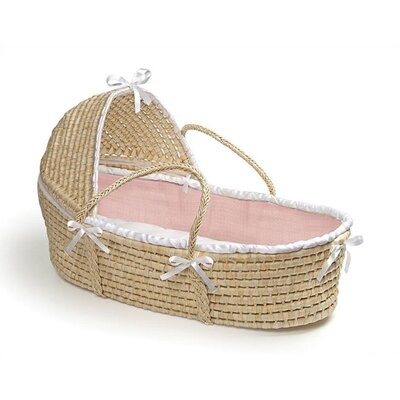Badger Basket Hooded Moses Basket with Waffle Bedding - Color: Pink Waffle at Sears.com