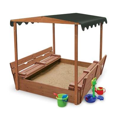 Badger Basket Convertible Cedar 4′ Rectangular Sandbox with Cover 99895