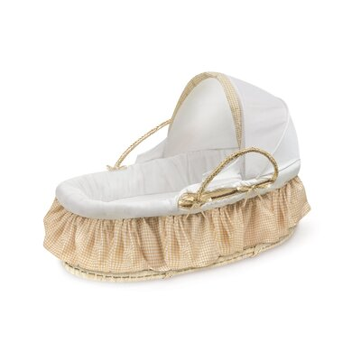 Badger Basket Natural Moses Basket with Fabric Canopy 97003