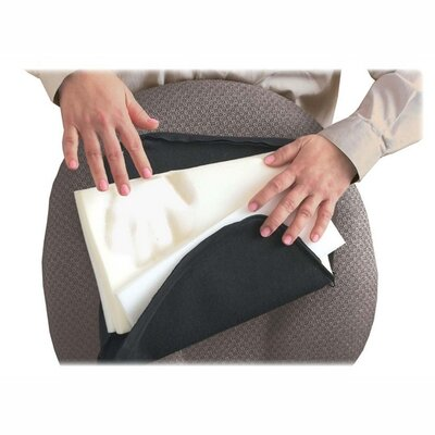 Lumbar Support Cushion with Elastic Strap Finish: Black