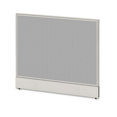 Parallel Panel, 42Wx48D, Gray