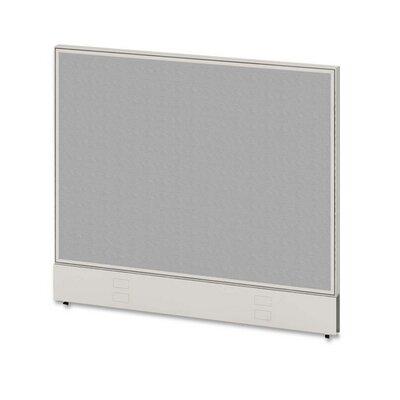 Parallel Panel, 42Wx48D, Gray