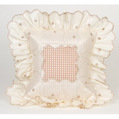 Madison Dot with Ruffle Throw Pillow