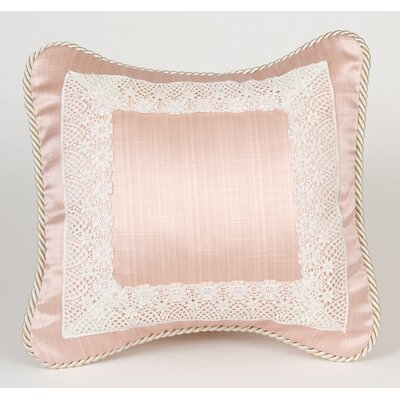 Madison Pink Pillow with Lace