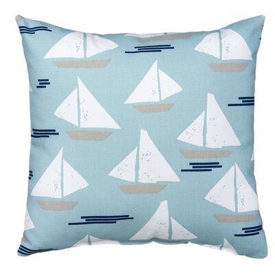 Little Sail Boat Throw Pillow