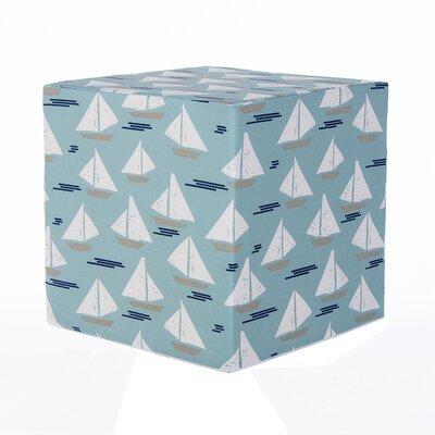 Little Sail Boat Cube Ottoman