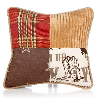 Dunecrest Patch Cotton Throw Pillow