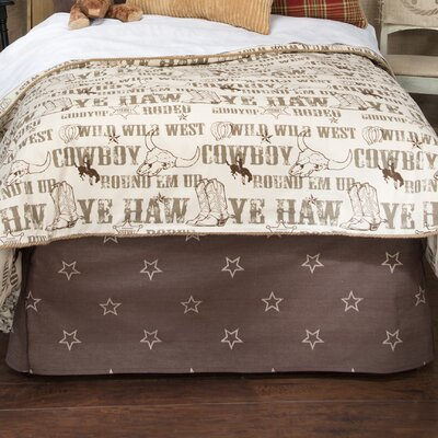 Dunecrest Brown Star Bed Skirt Size: Twin