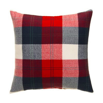 Erasmos Plaid 100% Cotton Throw Pillow