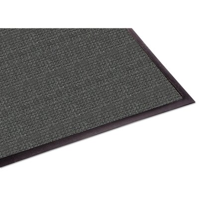 Solid Doormat Rug Size: 3x10, Color: Charcoal