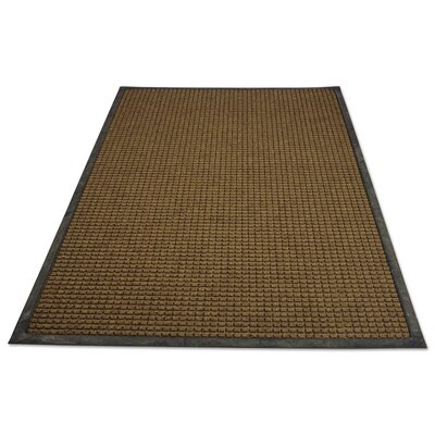 Solid Doormat Rug Size: Rectangle 4x6, Color: Brown