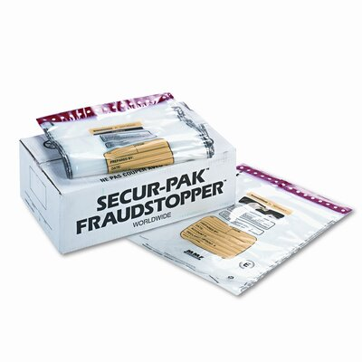 4 Bundle Capacity Tamper-Evident Cash Bags, 250 Bags/Box