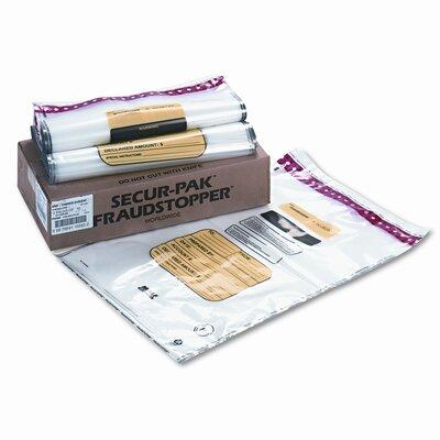 16 Bundle Capacity Tamper-Evident Cash Bags, 100 Bags/Box
