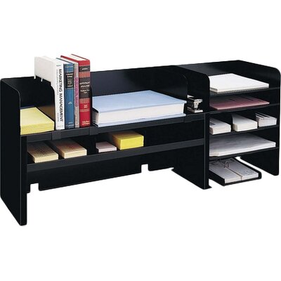 "Desk Organizer w/Dividers, 47-1/4""x9-1/2""x18-3/8"", Black MMF2061DOBK"
