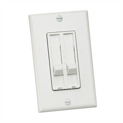 Three Speed Slide Dual Ceiling Fan Wall Control Color: White