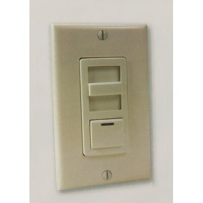 Slide Preset Light Kit Remote Wall Control with LED in Almond