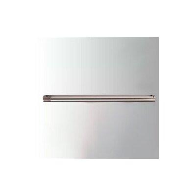 12 Ceiling Fan Downrod Color: Brushed Nickel