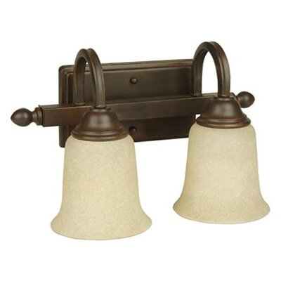 Madison 2-Light Vanity Light Glass Type: Beige