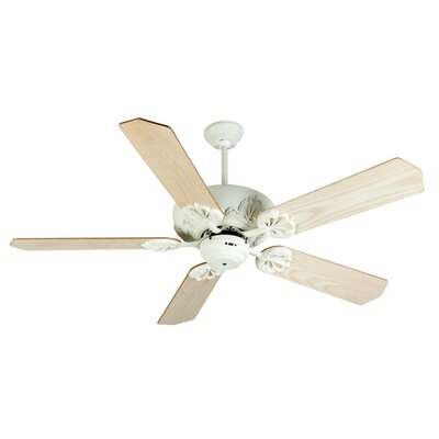 52 Cordova 5-Blade Ceiling Fan Finish: Antique White with Unfinished Ash Blades