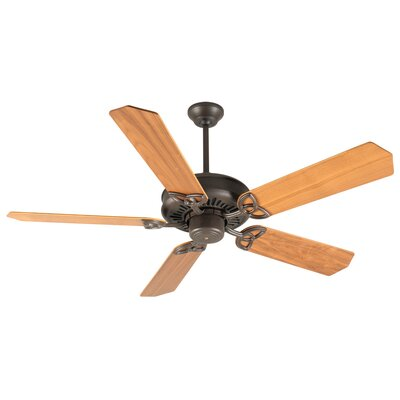 52 Emory 5-Blade Ceiling Fan Finish: Antique White with Unfinished Ash Blades
