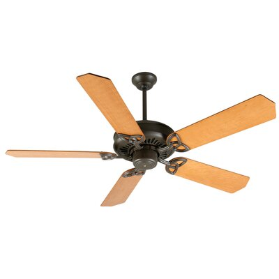52 Emory 5-Blade Ceiling Fan Finish: Aged Bronze Textured with Dark Oak Blades