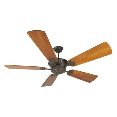 70 Sullivan 5-Blade Ceiling Fan with Remote Finish: Aged Bronze Textured with Teak Blades