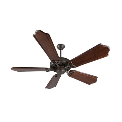 52 Emory 5-Blade Ceiling Fan Finish: Aged Bronze Textured with Classic Ebony Blades