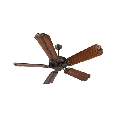 52 Emory 5-Blade Ceiling Fan Finish: Aged Bronze Textured/Oak