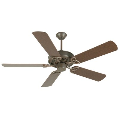 52 Holmstrom Traditional 5-Blade Ceiling Fan Finish: Aged Bronze Textured with Aged Bronze Blades