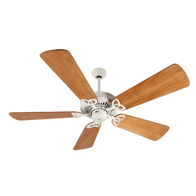 52 Emory 5-Blade Ceiling Fan Finish: Antique White with Distressed Oak Blades