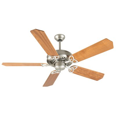 52 Emory 5-Blade Ceiling Fan Finish: Brushed Satin Nickel with Walnut Blades