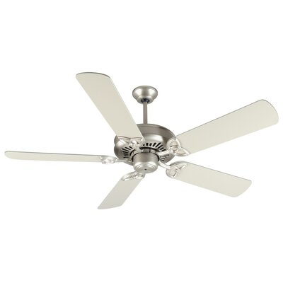 52 Emory 5-Blade Ceiling Fan Finish: Brushed Satin Nickel with Brushed Nickel Blades