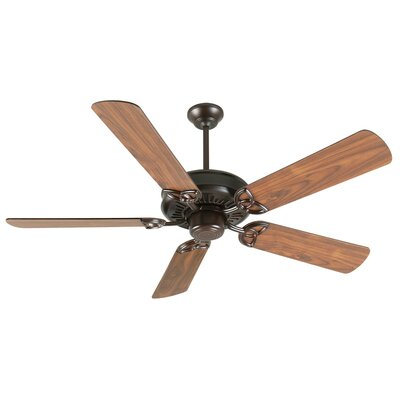 52 Emory 5-Blade Ceiling Fan Finish: Oiled Bronze with Walnut Blades