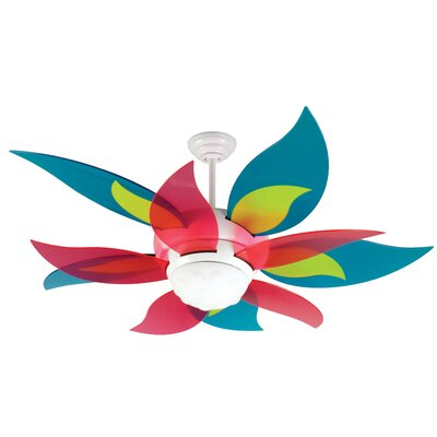 52 Mississippi 5-Blade Ceiling Fan Finish: Translucent Teal/Green/Cherry