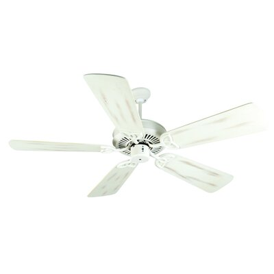 52 Holmstrom 5 Hand-Scraped Blade Ceiling Fan Finish: Antique White with Antique White Distressed Blades