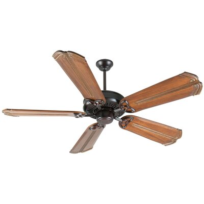 52 Emory 5-Blade Ceiling Fan Finish: Oiled Bronze/Oak