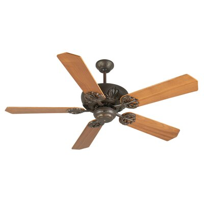 52 Ellis 5-Blade Ceiling Fan Finish: Aged Bronze Textured with Walnut Blades