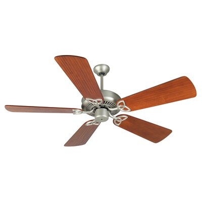 52 Holmstrom 5 Hand-Scraped Blade Ceiling Fan Finish: Brushed Satin Nickel with Cherry Blades