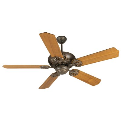 52 Ellis 5-Blade Ceiling Fan Finish: Aged Bronze Textured with Teak Blades
