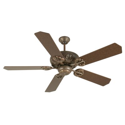 52 Ellis 5-Blade Ceiling Fan Finish: Aged Bronze Textured with Aged Bronze Blades
