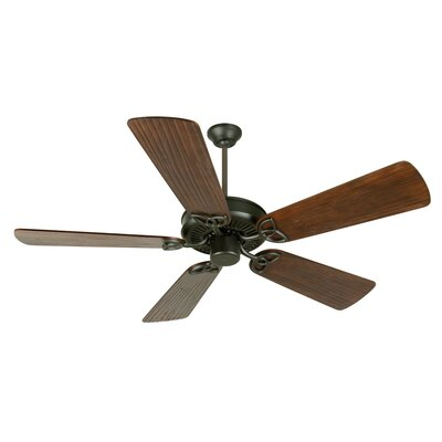 52 Holmstrom 5 Hand-Scraped Blade Ceiling Fan Finish: Flat Black with Walnut Blades