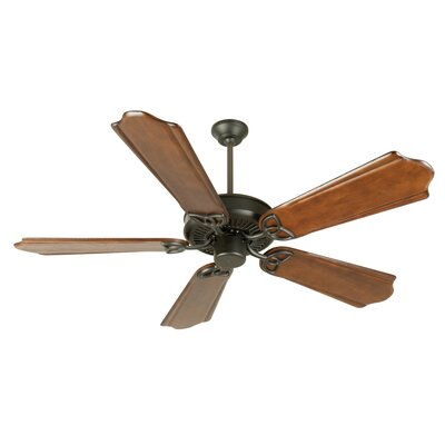 52 Holmstrom Antique 5-Blade Ceiling Fan Finish: Flat Black with Classic Ebony Blades