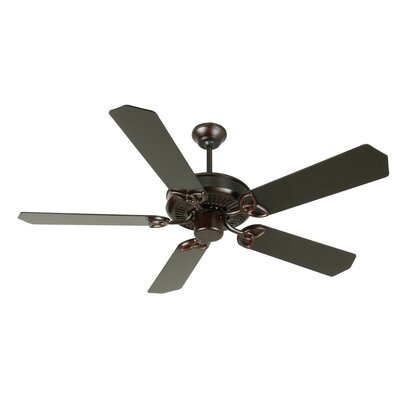 52 Holmstrom 5-Blade Ceiling Fan with Downrod Finish: Oiled Bronze