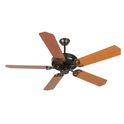 52 Holmstrom 5-Blade Ceiling Fan with Downrod Finish: Oiled Bronze with Cherry Blades