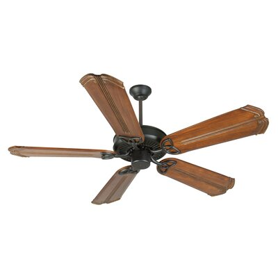 52 Holmstrom 5-Blade Ceiling Fan Finish: Flat Black/Oak