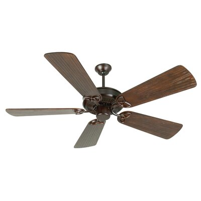 52 Holmstrom 5 Hand-Scraped Blade Ceiling Fan Finish: Oiled Bronze with Walnut Blades