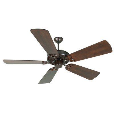 52 Holmstrom 5 Hand-Scraped Blade Ceiling Fan Finish: Oiled Bronze with Distressed Walnut Blades