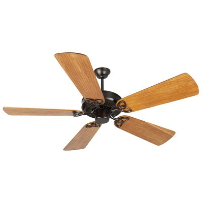 52 Holmstrom 5 Hand-Scraped Blade Ceiling Fan Finish: Oiled Bronze with Teak Blades